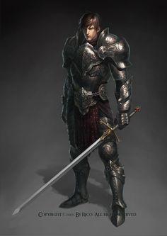 Rico on Behance Fantasy Demon, Fantasy Art Men, High Fantasy, Fantasy Warrior, Medieval Fantasy, Warrior High, Fantasy Character Design, Character Design Inspiration, Character Art