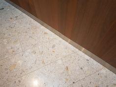Vi har levert og utført: Terrazzofliser (HT Calacatta) på gulv i fellesarealer og elementer i trapper  Omfang: 500m2  Tidsperiode: 2013 Trondheim, Calacatta, Terrazzo, Tile Floor, Flooring, Home Decor, Decoration Home, Room Decor, Tile Flooring