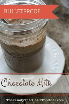 Move over bulletproof coffee, Bulletproof Chocolate Milk is where it's at! This recipe with good fats and high protein content uses Vital Proteins collagen peptides for a satisfying and kid-friendly morning beverage or afternoon snack! Healthy Protein Snacks, Healthy Drinks, Healthy Sweets, Detox Drinks, Yummy Drinks, Eating Healthy, Clean Eating, Milk Recipes, Real Food Recipes