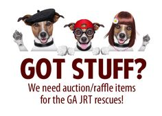 We will be hosting several raffles/auctions in the coming months, both online and in Georgia. We could really use some items to help raise funds for the rescues. We need everything from small items, to big prizes, to handmade goodies.