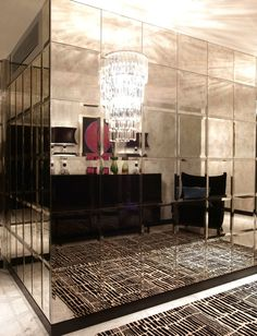 Mirrored wall luxury home interior