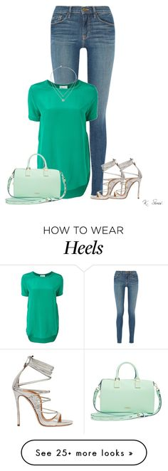 """It's amazing how a pair of heels takes you from shabby to chic"" by ksims-1 on Polyvore featuring Frame Denim, 3.1 Phillip Lim, Dsquared2, Rebecca Minkoff and Michael Kors"