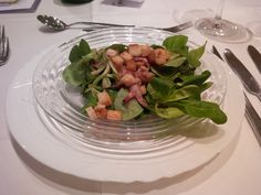 Lamb's lettuce with bacon and bread croûtons on a sherry marinade @ Restaurant Landhus