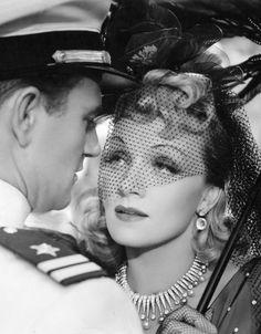John Wayne & Marlene Dietrich in Seven Sinners (1940) (JW) http://dunway.com/