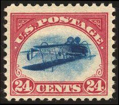 "rare stamp ""inveirted Jenny"", USA"