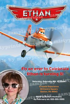 Printable Disney PLANES Birthday Invitation!      To Purchase this Design:    1. Use Add to Cart option to purchase this card design.    2. Make