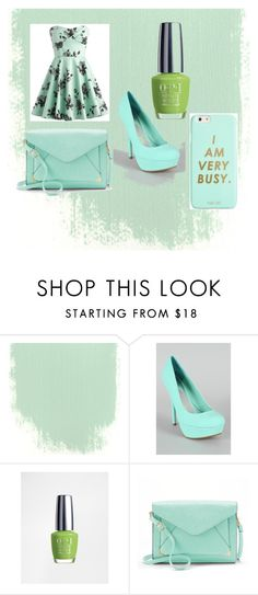 """""""bussy sheek"""" by funnymomentsxx ❤ liked on Polyvore featuring OPI, Apt. 9 and ban.do"""