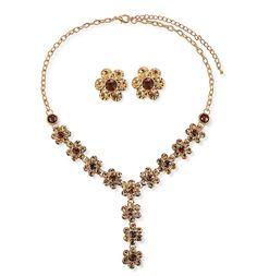 42307 amber necklace jewelry set