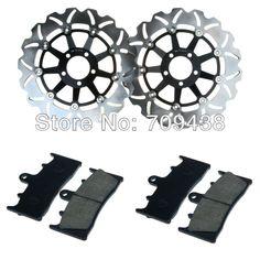 2 X Front Brake Disc Rotor+Pad For KAWASAKI ZX9R (ZX 900) 00-01 ZRX 1100 (ZR 1100) 97-00 ZRX 1200 R (ZR 1200) 01-08 S 01-07 $219.00