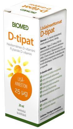 D-tipat 25μg - Hyvin imeytyvä, helppokäyttöinen ja riittoisa 20 Ml, Personal Care, Self Care