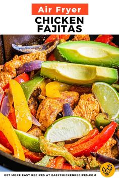 Try something delicious and new with this recipe for Air Fryer Chicken Fajitas. You can use the air fryer to prepare the perfect lunch or dinner consisting of seasoned chicken, bell peppers, and onions. Homemade Fajita Seasoning, Chicken Fajita Recipe, Chicken Fajitas, Chicken Seasoning, Chicken Recipes, Avocado Guacamole, Gluten Free Tortillas, Easy Food To Make, Us Foods
