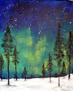 Custom Northern Lights Painting by Ruth Oosterman  https://www.etsy.com/ca/listing/280844774/custom-northern-lights-original-acrylic?ref=shop_home_active_1
