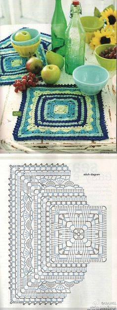 Love this crochet square pattern