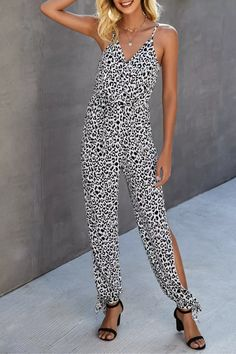 Sexy Leopard Print Rompers Womens Jumpsuit Plus Size New 2021 Summer Streetwear Split One Piece Long Jumpsuits Overalls Pant Jumpsuit Outfit, Long Jumpsuits, Streetwear, Overalls, Rompers, One Piece, Plus Size, Womens Fashion, Sexy