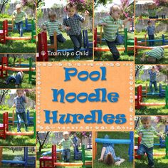 Growing A Jeweled Rose-POOL NOODLE HURDLES!  GREAT EXERCISE AND ACTIVITY FOR COORDINATION