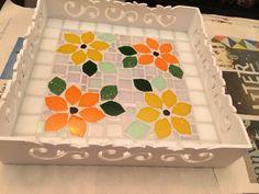 Bandeja com mosaico!