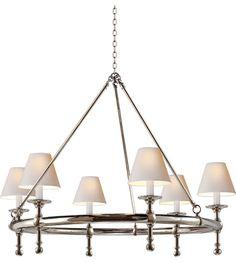 Visual Comfort E.F. Chapman Classic 6 Light Chandelier in Polished Nickel SL5812PN-NP #visualcomfort #lightingnewyork #lighting