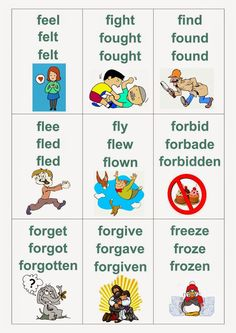 irregular verbs with Verbs For Kids, All Verbs, Grammar For Kids, Grammar Book, Linking Verbs, English Vocabulary Words, English Phrases, English Idioms, English Lessons