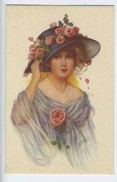 Early 1920s fashion postcard