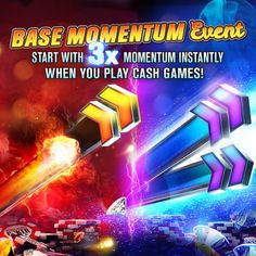 💫 Base Momentum Event💫  There's a new baseline in town. Now start your cash games with 3X Momentum‼ Earn your bracelets faster now.  Momentum Chips ▶ https://wsopga.me/x5RO8 #ElectronicsStore