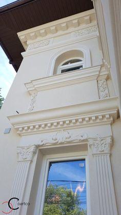 Proiect Casa Rezidentiala zona Podul Grant, Bucuresti – Profile Decorative My Home Design, House Design, Townhouse Exterior, Classic House Exterior, Pula, Design Case, Windows And Doors, Facade, Interior Design
