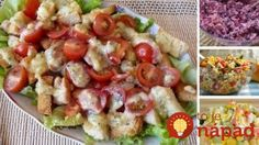 Caesar salad with chicken.Salad recipe - in Russian - translation is kind of odd, but the salad is pretty! Chicken Salad, Pasta Salad, New Recipes, Healthy Recipes, Cheese Salad, Caesar Salad, Food Inspiration, Potato Salad, At Least