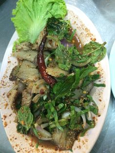 Namtok. Made up of pork and it hasa distict taste that u will surely love
