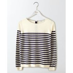 For the J.Crew 'Tippi' Ivory/Navy Striped Sweater