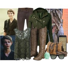 """Want!! I don't like the phone case and I'm not mad about the shirt, but I especially like the jacket and boots. The bag is pretty cool too.  """"Peter Pan once upon a time"""" by skichic on Polyvore"""