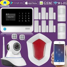 Kerui W18 Android Ios App Wireless Gsm Home Alarm System
