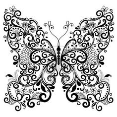 16243432-decorative-fantasy-lacy-vintage-butterfly-isolated-on-white.jpg (400×400)