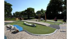 A brand new 18 hole golf course installed with artificial grass greens from LazyLawn has recently opened at Highfields Park in Nottingham Artificial Putting Green, Adventure Golf, New Golf, Putt Putt, Nottingham, Green Grass, Lawn, Golf Courses, Cool Things To Buy