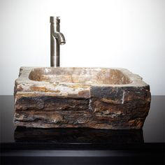 Easthill Petrified Wood Vessel Sink  | followpics.co