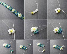 Best seed bead jewelry 2017 daisy chain of beads seed bead tutorials – Artofit Friendship Bracelets With Beads, Seed Bead Bracelets, Jewelry Bracelets, Pearl Bracelets, Pearl Rings, Pearl Necklaces, Rope Necklace, Gold Bangles, Beaded Necklace