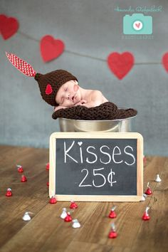 Newborn Hershey Kiss Hat - Valentine Hat. $24.00, via Etsy.