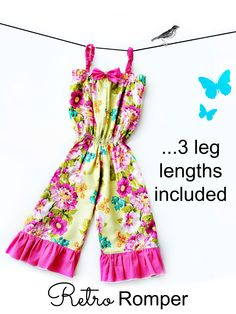 Retro Romper PDF Sewing Pattern - Whimsy Couture Products