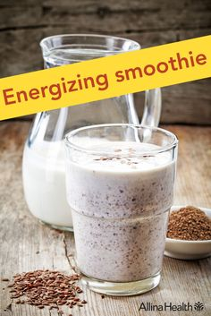 Energizing smoothie - Enjoy this healthful smoothie for breakfast, as an on-the-go snack or even dessert! The protein, fiber and natural sweetness will satisfy your hunger and cravings as you go about your day. http://www.allinahealth.org/Health-Conditions-and-Treatments/Eat-healthy/Recipes/Beverages/Energizing-smoothie/