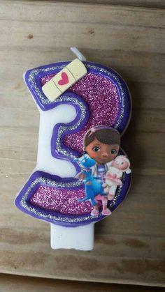 Doc Mcstuffins Birthday Candle by LilMonkeyStitchesWV on Etsy Third Birthday, 3rd Birthday Parties, Birthday Plan Ideas, Doc Mcstuffins Birthday Party, Princess Birthday, Birthday Candles, First Birthdays, Cart, Menu