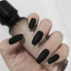 Acrylic Nail Designs Coffin, French Acrylic Nails, Black Nail Designs, Acrylic Nail Art, Simple Nail Designs, Gel Nail Art, French Nails, Coffen Nails, Coffin Nails Matte