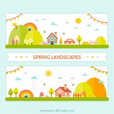 flat-spring-landscape-banners_23-2147537912.jpg 626×626 pixels