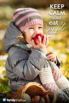 How to teach your kids to eat healthy food (like apples . . .) :)