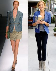 Style your jeans with a blazer