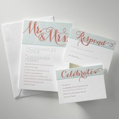 Wending Invitations: Letterpress Stationery from Invitations by Dawn