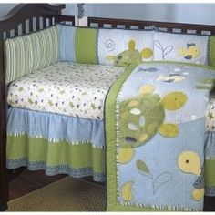 Turtle And Fish Crib Bedding By Cocalo