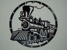Railroad Steam Engine Metal Wall Art by SunsetMetalworks on Etsy