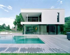 EFH KARLSRUHE - Bauwerk.Bau.Reilingen Design Your Home, Modern House Design, Contemporary Architecture, Interior Architecture, Modern Crib, Villa Design, Sims House, Pool Houses, House Front