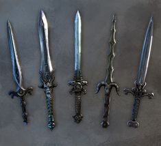 Kendrics men, the  Draggathares use these knives.  From left to right.  Martheiy.  Vladmir. Naggathrong.  Xerth.  And Herejk.