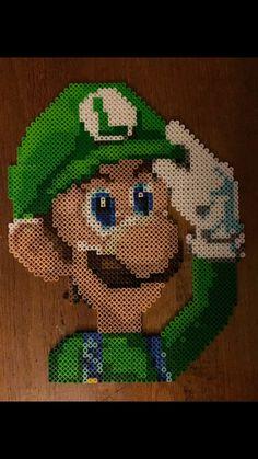 Super Mario Bros Luigi perler beads by TheArteStudio