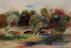 Pierre Auguste Renoir Landscape With Bridge oil painting reproductions for sale