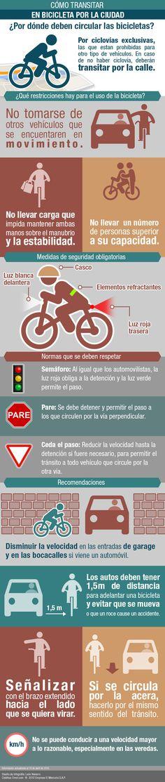 Infografía: Conoce las normas y recomendaciones para transitar en bicicleta con seguridad